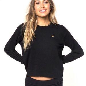 Spiritual Gangster Good Vibes Cropped Sweatshirt